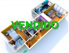 Piso de 2 dormitorios con garaje y vistas en Torrecedeira