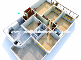Piso de 126 m2 con garaje en pleno centro