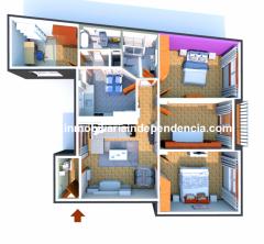 Piso de 4 dormitorios con garaje en Balaidos